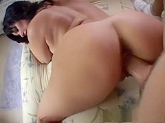 Horny pornstar Carrie Ann in hottest brunette, big tits sex clip