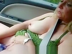 Exhibitionist Woman With Vibrator In Pussy