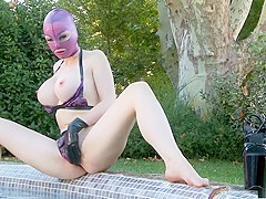 Hottest pornstar Latex Lucy in exotic lingerie, big tits adult video