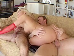 Fabulous pornstar Stacy Thorn in best blonde, dp sex clip