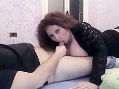 Curly Redhead Likes To Suck Cock