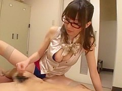 Incredible Japanese slut in Amazing Handjobs, Medical JAV scene