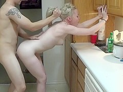 Blonde Babe Gets Fucked In The Kitchen-Ourdirtylilsecret