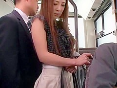 Crazy Japanese girl Minori Hatsune in Incredible Outdoor, Upskirts/Panchira JAV movie