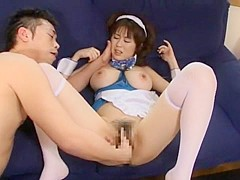 Hottest Japanese chick Nana Aoyama in Amazing Big Tits, Hairy JAV movie
