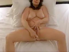 Busty nympho wife has loud orgasm with dick and dildo