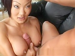 Fabulous pornstar Lucy Lee in best blowjob, facial adult scene