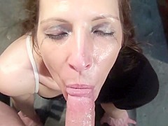 Exotic pornstar Marie Madison in hottest blowjob, brunette porn scene