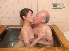 Incredible Japanese whore Aoki Misora in Horny Showers, Oldie JAV clip
