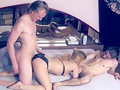 Horny Amateur movie with Threesome, Panties and Bikini scenes