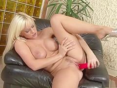 Fabulous pornstar Cindy Dollar in crazy masturbation, blonde sex clip
