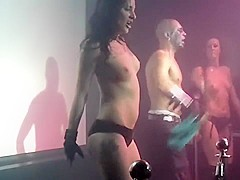 Burlesque Strip SHOW 416 Becky Lounude and Nude on Stage Cirls