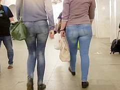 Two junior womans with nice asses