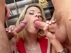 Horny pornstar Chloe Delaure in amazing anal, threesome porn movie