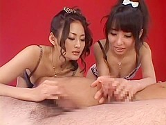 Horny Japanese model Risa Murakami, Yuka Osawa in Exotic Lingerie, Stockings/Pansuto JAV clip
