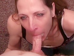 Horny pornstar Marie Madison in crazy blowjob, facial porn scene