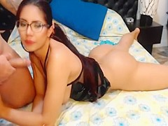 Hardcore anal and pussy fucking of horny couple