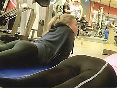 Sexy girls doing planks in the gym