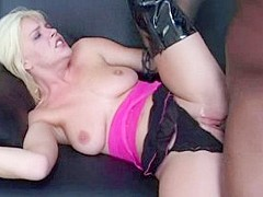 Horny pornstar Missy Monroe in incredible blonde, interracial xxx video