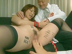 Incredible Japanese chick in Horny Big Tits, Stockings/Pansuto JAV clip