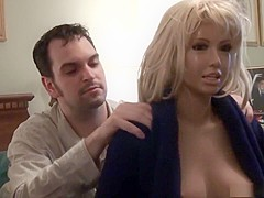 Amazing pornstars Marie Madison and Jenny Densuke in incredible fetish, blonde xxx scene