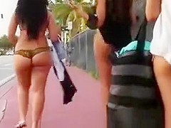Amazing thong on the street
