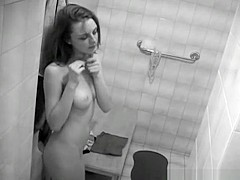 Undress in the bathroom