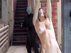 Naked woman whipped