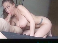 Busty Girl Makes Bf Cum2