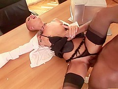 Amazing pornstar in horny blonde, lingerie xxx movie