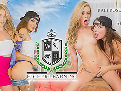 Adria Rae & Kali Roses in Higher Learning - WankzVR