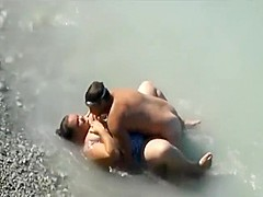 Chubby girl fucked in the water