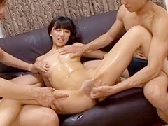 Horny Japanese girl Sanae Tachibana in Amazing Threesomes, Masturbation/Onanii JAV video