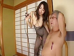 Horny Japanese model in Incredible Fishnet, Blowjob/Fera JAV movie