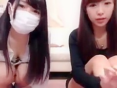 3 japanese girls have fun on cam