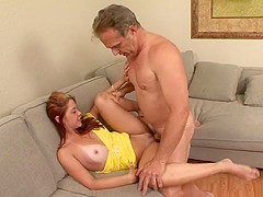 Horny pornstar Cherry Lane in incredible college, redhead adult scene
