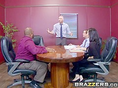 Brazzers - Big Tits at Work - Nicole Aniston Johnny Sins - A Union Nutbuster