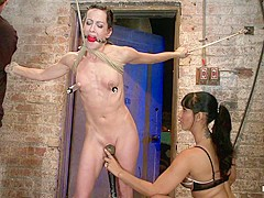 Elise Is Bound In The Flying Rubens A Brutal Category 5 Suspension Caned & Made To Cum, Hard - HogTi