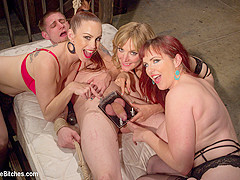 Bella Rossi & Mz Berlin in Panty Thief Pumped Full Of Viagra Then Teased And Denied By Three Mean Li