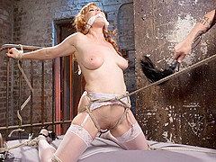 Penny Pax & The Pope in Red Headed Anal Queen Is Helpless In Grueling Bondage - HogTied