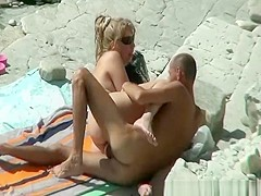 Pussy eating and fuck on the beach