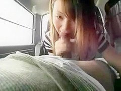 Alluring Asian girls show off their handjob and blowjob ski