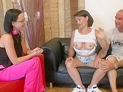 Hottest Homemade clip with Threesome, Brunette scenes