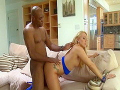 Incredible pornstar A.J. Applegate in exotic big dick, interracial xxx movie