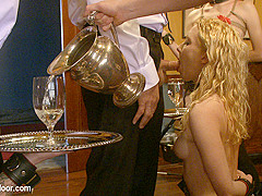 Maestro & Iona Grace & Sparky Sin Claire & Lilla Katt & Nicki Blue in Service Day: Table Settings -