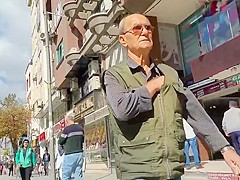 Huge cock big balls turkish grandpa