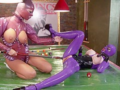 Horny pornstars Black Angelica and Lucy Latex in exotic big tits, fetish adult scene