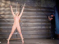 Cheyenne Jewel & The Pope in Fiery Red Head In Bondage, Tormented And Cumming Like A Whore - HogTied
