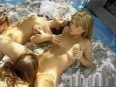 Fabulous pornstars Lil Bit, Paisley Hunter and Jewell Marceau in incredible dildos/toys, lingerie xx