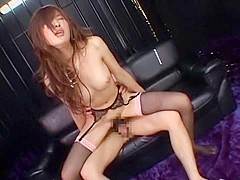 Exotic Japanese slut Rina Kousaka in Crazy Small Tits, Stockings/Pansuto JAV video